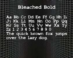 Bleached Bold font