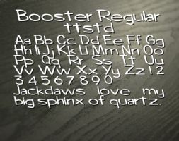 Booster Regular ttstd font