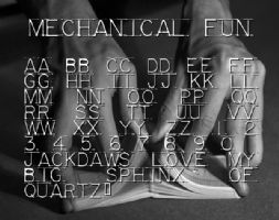 Mechanical Fun font